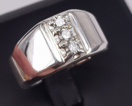 Natural Diamonds Men Ring.