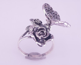 Butterfly Silver 925 Ring