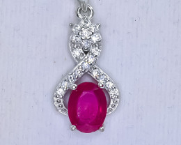 15.67 Crt Natural Composite Ruby 925 Silver Pendant