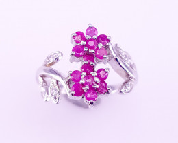 Unique Design Ruby Ring