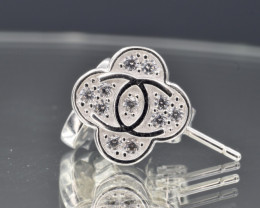 CHANNEL Stud Earrings 925 amazing design