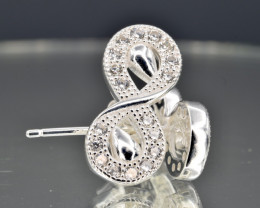 INFINITY Stud Earrings 925 amazing design
