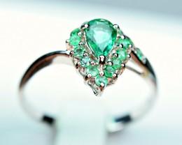 Natural Precious Top Quality 11Pis 0.50Carat Emerald cut stones 925 Silver