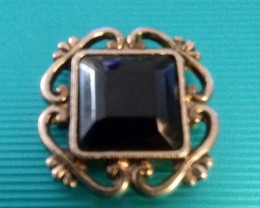 VINTAGE BUTTON COVER 1960'S CIRCA BLACK STONE