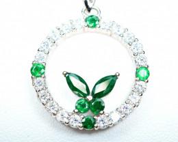 transparent Precious top Color 8pis 1Carat Highes Green Emerald,CZ925 Silve
