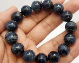 Natural Blue Tiger Eye Bracelet 294.00 Carats