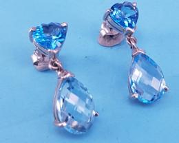 Natural Topaz Earrings