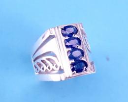 Hand Made Natural Beautiful Sapphire  Ring