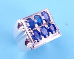 Hand Made Natural Sapphire  Ring