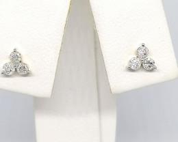 CERTIFIED Diamond Earrings 0.25 TCW - 9kt. Gold