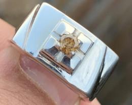 Natural Diamonds Gents Ring.