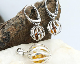 Baltic Amber Jewellery Set, direct from Poland RN256