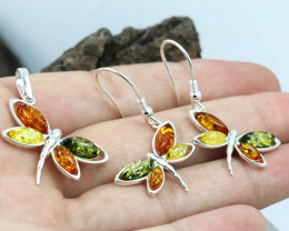 Baltic Amber Jewellery Set , direct from Poland RN261