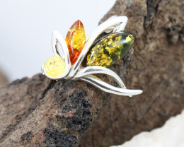 Baltic Amber Brooch, direct from Poland RN288