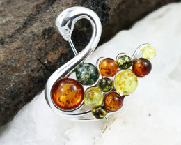 Baltic Amber Brooch, direct from Poland RN294