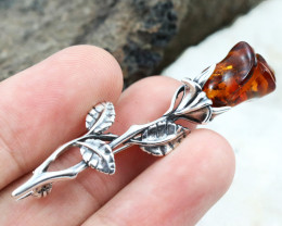 Baltic Amber Brooch, direct from Poland RN299