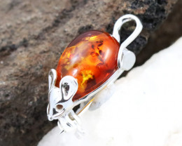 Baltic Amber Brooch, direct from Poland RN309