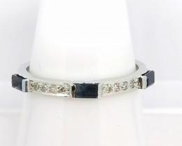 Sapphire and Diamond Ring 0.48tcw