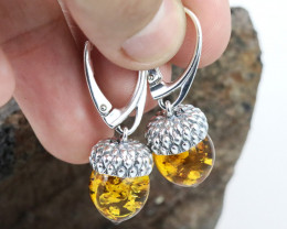 Baltic Amber Earring, direct from Poland RN334