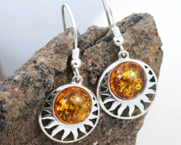 Baltic Amber Earring, direct from Poland RN337