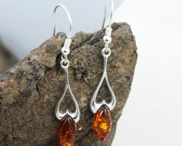 Baltic Amber Earring, direct from Poland RN344