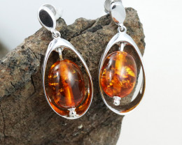 Baltic Amber Earring, direct from Poland RN347