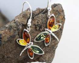 Baltic Amber Earring, direct from Poland RN361