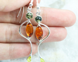 Baltic Amber Earring, direct from Poland RN374