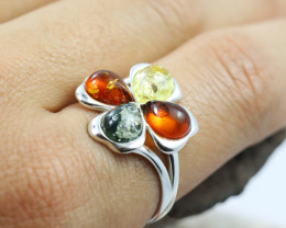 Baltic Amber Ring, direct from Poland size 7  RN488
