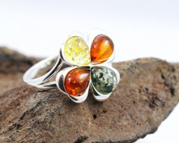Baltic Amber Ring, direct from Poland size 8  RN489