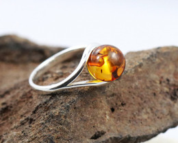 Baltic Amber Ring, direct from Poland size 10  RN494