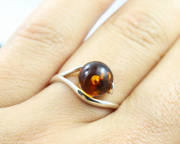 Baltic Amber Ring, direct from Poland size 6  RN493