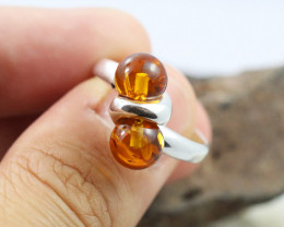 Baltic Amber Ring, direct from Poland size 7  RN503