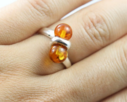 Baltic Amber Ring, direct from Poland size 7  RN504