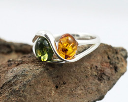 Baltic Amber Ring, direct from Poland size 9  RN512
