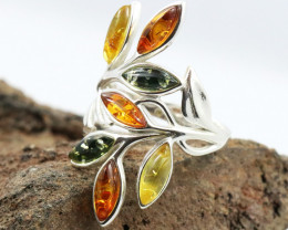Baltic Amber Ring, direct from Poland size 9  RN519
