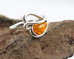 Baltic Amber Ring, direct from Poland size 10  RN523