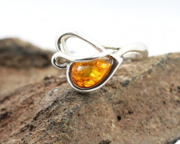 Baltic Amber Ring, direct from Poland size 7  RN524