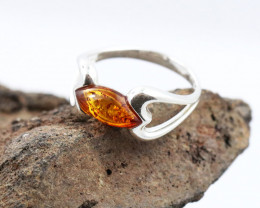 Baltic Amber Ring, direct from Poland size 8  RN540
