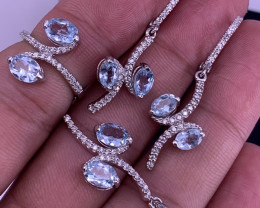 Natural Topaz With CZ.