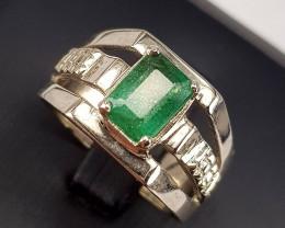 Naturla Emerald Gents Ring.