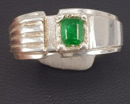 Natural Swat Emerald Man Ring.