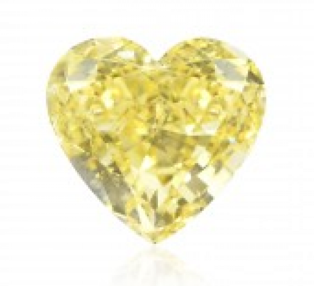 heart shaped yellow Diamond