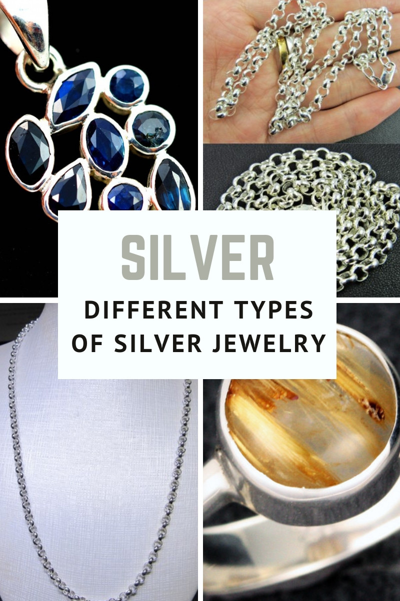 different types of silver jewelry