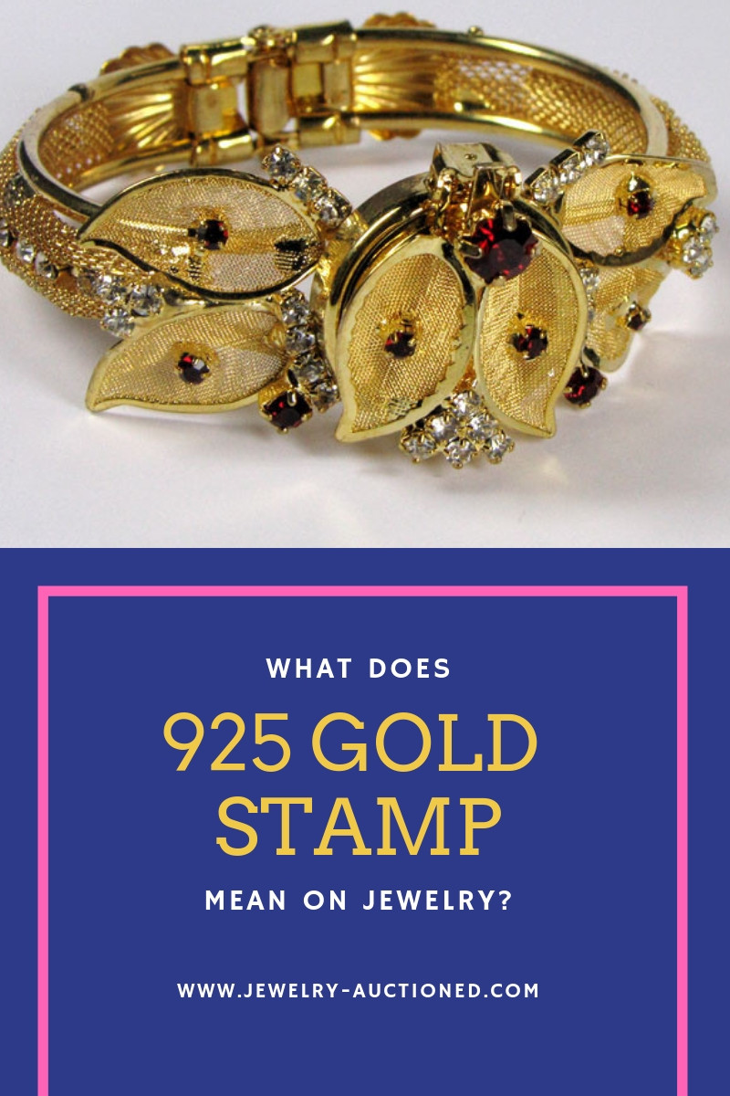 What does a 925 Gold Jewelry Stamp Mean? | Jewelry Auctioned