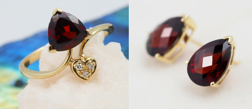 2nd year anniversary garnet jewelry
