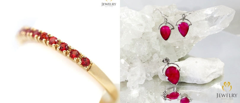 15th year anniversary ruby jewelry