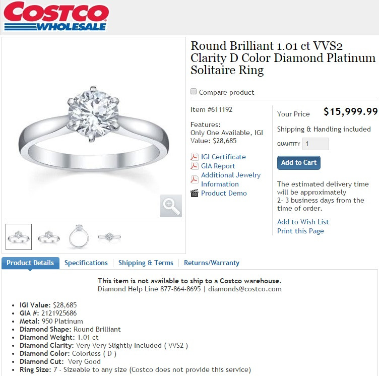 Is Costco Jewelry A Good Deal