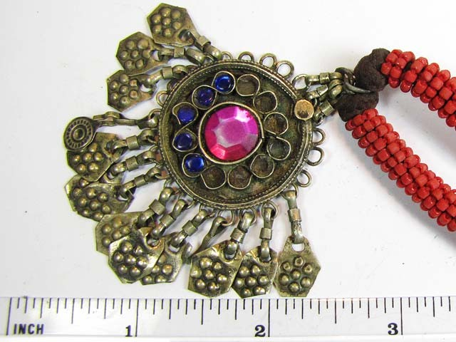 TRADITIONAL TIBETAN SILVER NECKLACE  76   CTS TR 841