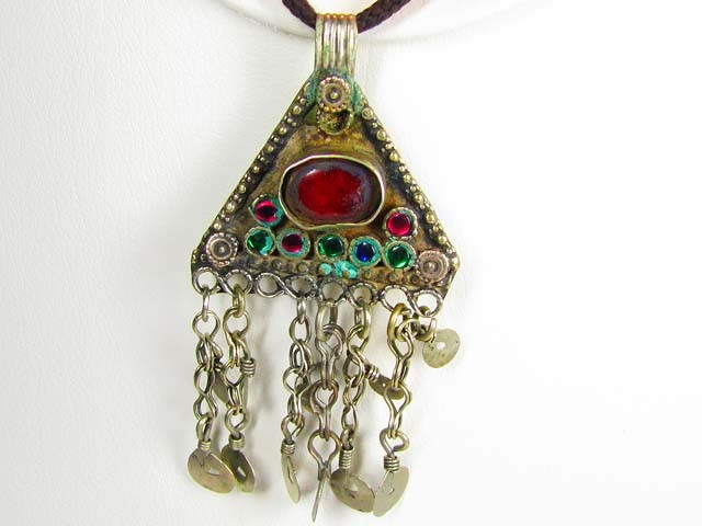 TRADITIONAL TIBETAN SILVER NECKLACE 79 CTS TR 845